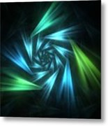 Nautical Spiral Metal Print