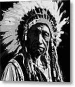 Navajo Indian Chief Metal Print