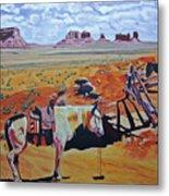 Navajo Ponies Metal Print