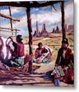 Navajo Weavers Metal Print