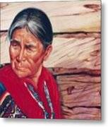 Navajo Woman Metal Print