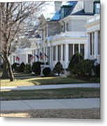 Naval Academy - Captains Row Metal Print