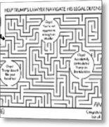 Navigate The Trump Legal Defense Metal Print