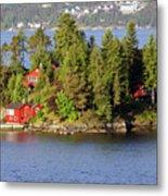 Navigating The Hjeltefjorden In Hordaland Metal Print