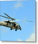Navy Helicopter Metal Print