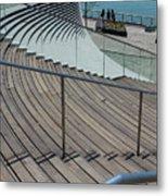 Navy Pier Stairs Metal Print