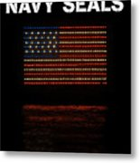 Navy Seals Flag Metal Print
