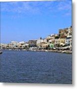 Naxos Greece Harbor Metal Print