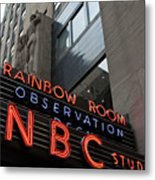 Nbc Studio Rainbow Room Sign Metal Print