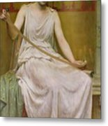 Neaera Reading A Letter From Catullus Metal Print