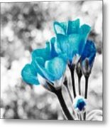 Near Bloom Blue Metal Print