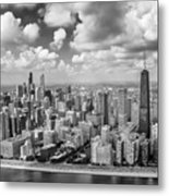 Near North Side And Gold Coast Black And White Metal Print