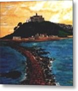 Near Penzance St. Michaels Mount Metal Print