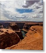 Near The Edge Metal Print