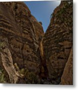 Nearing The Slot Canyon - Tent Rocks Metal Print