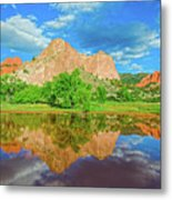 Nearly 2 Million People Rollick In This World-famous City Park Every Year.  Metal Print