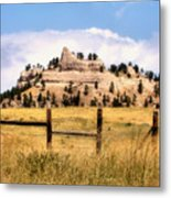 Nebraska Buttes Metal Print