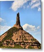 Nebraska Chimney Rock Panorama Metal Print