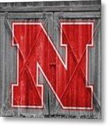 Nebraska Cornhuskers Barn Doors Metal Print