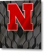 Nebraska Cornhuskers Uniform Metal Print