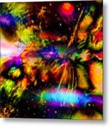 Nebula Collision Course Metal Print