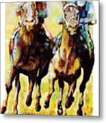 Neck and Neck Metal Print