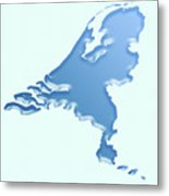 Nederland Waterland Metal Print