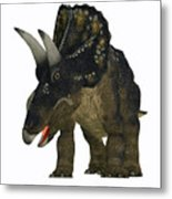 Nedoceratops On White Metal Print