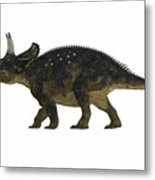 Nedoceratops Side Profile Metal Print