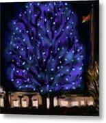 Needham's Blue Tree Metal Print