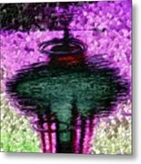 Needle In A Raindrop Stack 3 Metal Print