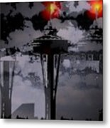 Needle In Flux Metal Print