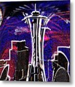 Needle In The City Metal Print