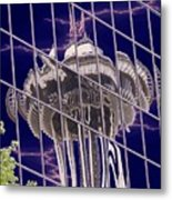 Needle Reflection Metal Print
