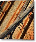 Needles And Wood Metal Print