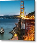Needles At The Ggb Metal Print