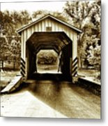 Neff's Mill Covered Bridge - Lancaster County Pa. Metal Print