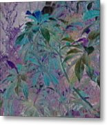 Negative Jungle Metal Print