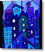 Neighborhood Blues Metal Print