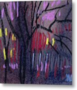Neighbor's Lights Metal Print
