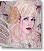 Neira Winter Fairy Metal Print