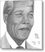 Nelson Mandela Metal Print