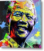 Nelson Mandela Madiba Metal Print