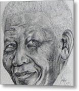 Nelson Mandela Metal Print by Stephen Sookoo