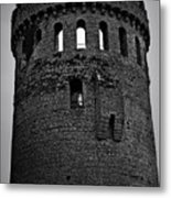 Nenagh Castle Tower Bw Metal Print