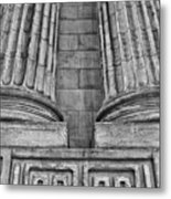 Neo Classical Architectural Detail In New York City Metal Print