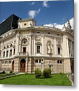 Neo Renaissance Architecture Of The Slovenian National Opera And Metal Print