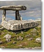 Neolithic Teleport - Portal Tomb In The Burren Metal Print