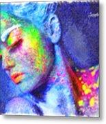 Neon Beauty Metal Print