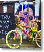 Neon Bike Metal Print